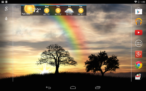 Sun Rise Pro Live Wallpaper Screenshot