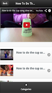 How To Do The Cup Song VDO