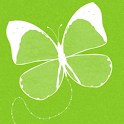 Green Butterfly Keyboard Skin logo