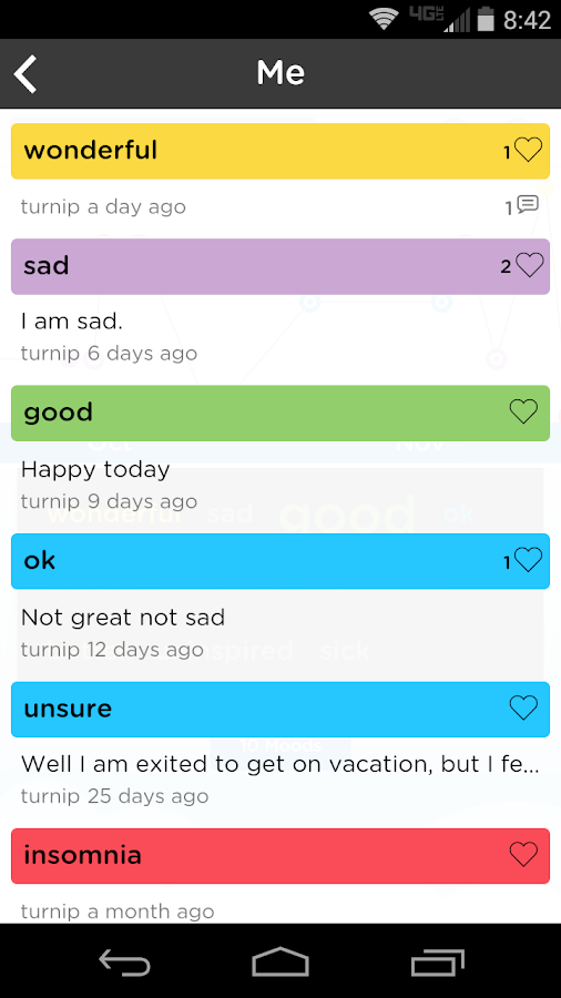 Moodtrack Diary: Mood Tracker- screenshot