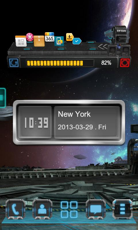 Next Clock Widget - screenshot