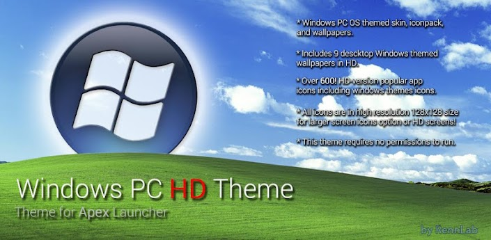Windows 8 PC HD Apex Theme v1 Apk Download Free - APKMirrorFull