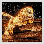 Fire Tiger Live Wallpaper