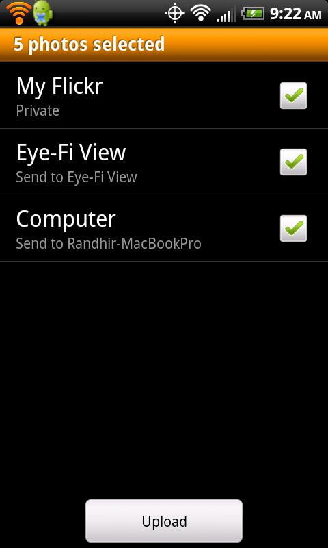 Eye-Fi - screenshot