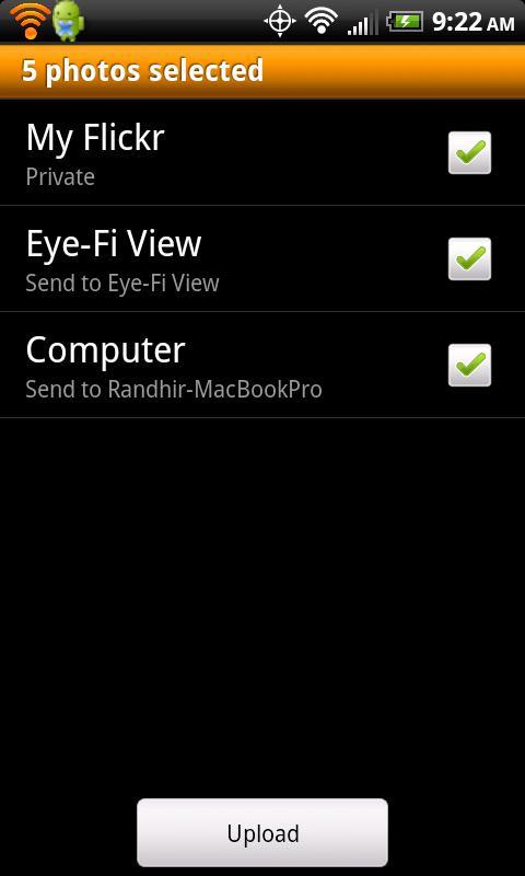 Eye-Fi (Legacy X2 only)- screenshot