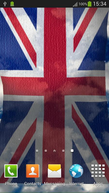 UK Flag Live Wallpaper - screenshot