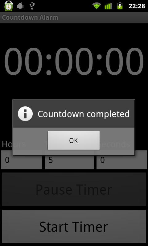 Countdown Alarm - screenshot