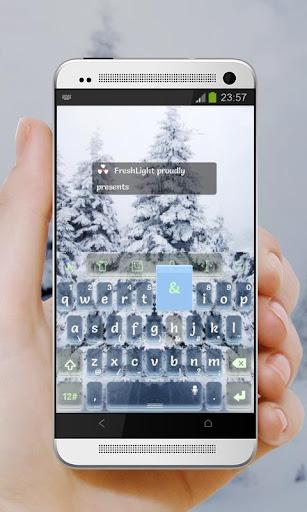 【免費個人化App】冬天的雪 TouchPal Theme-APP點子