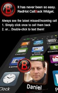 RedHot CallBack Widget - screenshot thumbnail