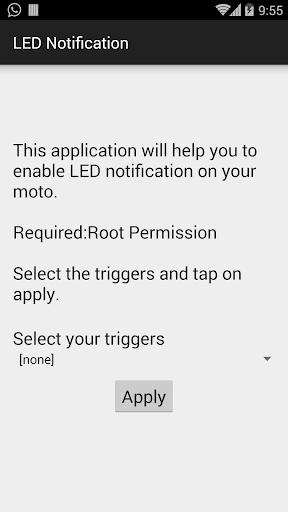 MOTO E LED Notification