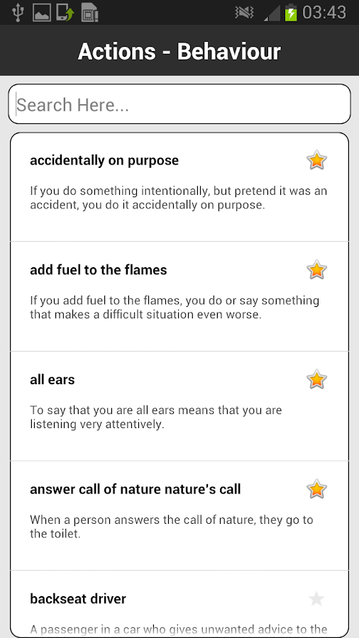 Idioms & Phrases Dictionary- screenshot