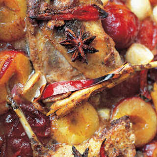 Sweet Duck Legs Cooked With Plums & Star Anise