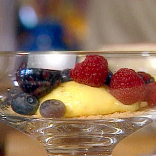 Lemon Curd Over Biscotti Crumbs With Fresh Berries