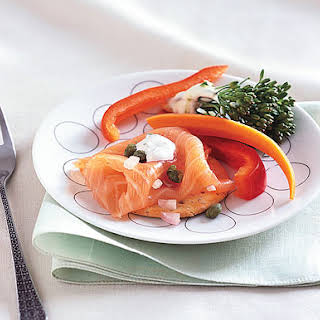 Smoked Salmon Platter with Dill Sour Cream.