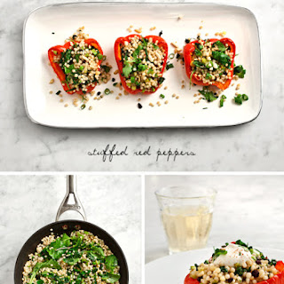 Couscous Stuffed Red Peppers.