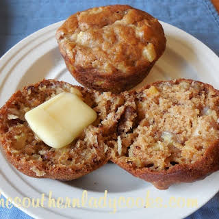 PINEAPPLE, BANANA AND COCONUT MUFFINS.