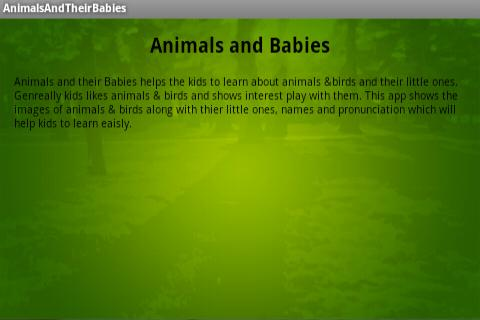 Animals and Babies for Kids- screenshot