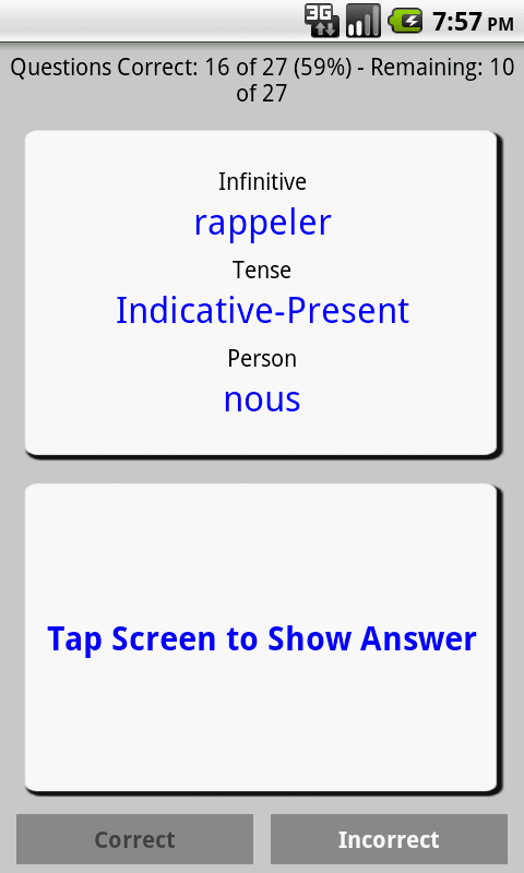 PenguinRoot French Verbs FREE - screenshot