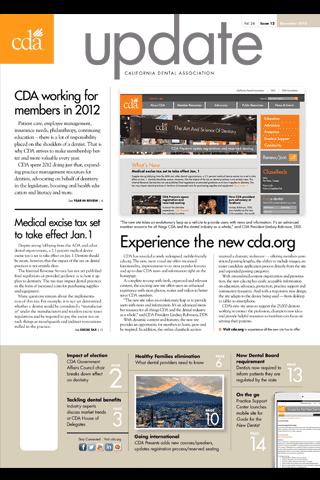 CDA Update - screenshot