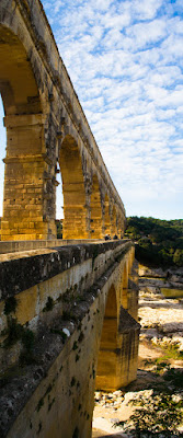 Pont du Gard - panoramique vertical