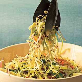 Cabbage Slaw with Tangy Mustard Seed Dressing.