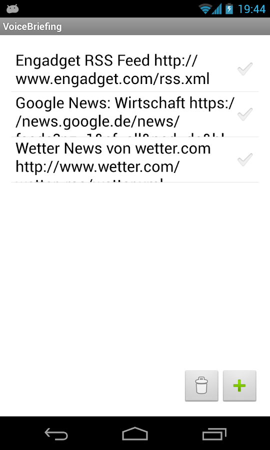 VoiceBriefing - RSS Reader- screenshot