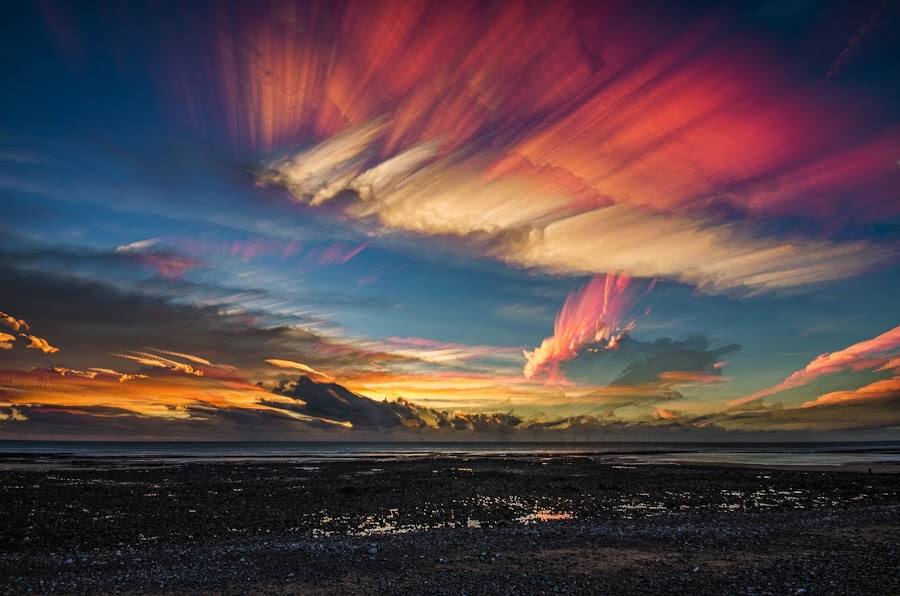 Cloud stack by Graham Kidd - Landscapes Cloud Formations ( clouds, red,  )