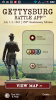 Screenshot of Gettysburg Battle App