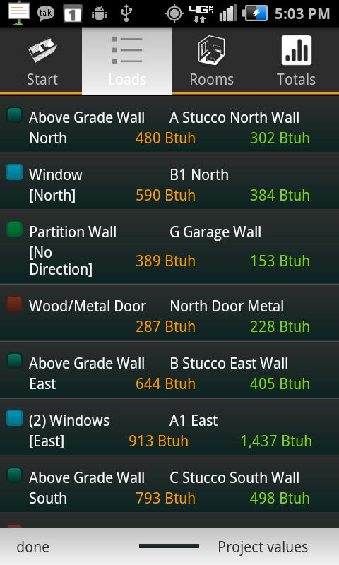 HVAC Buddy® Load Calc - screenshot