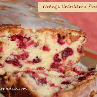 Cranberry Pound Cake with Orange Glaze