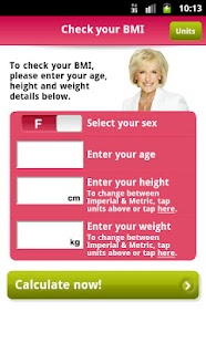 Rosemary Conley's BMI App- screenshot thumbnail