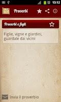 Screenshot of Proverbi e detti italiani