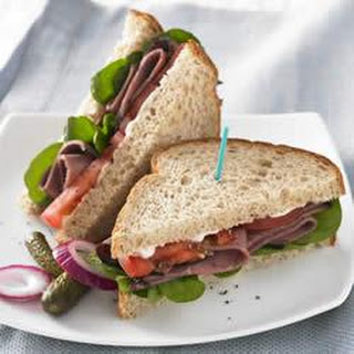 Roast Beef and Arugula Sandwich
