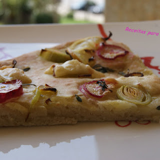 Lemon Focaccia with Rosemary and Radishes.
