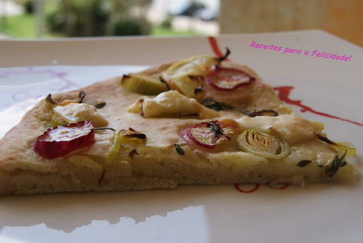 Lemon Focaccia with Rosemary and Radishes Recipe