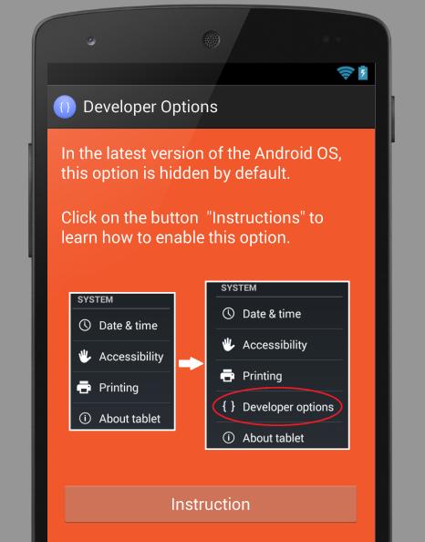 Developer Options - screenshot