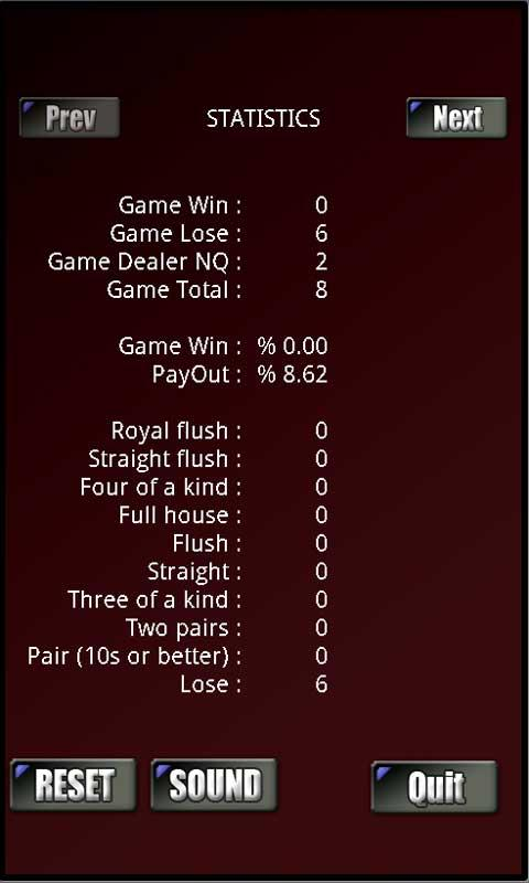 RVG Caribbean Poker- screenshot