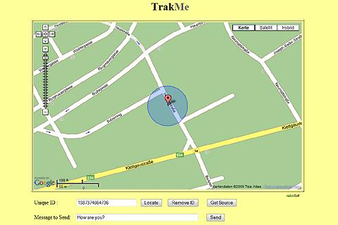 TrakMe - screenshot