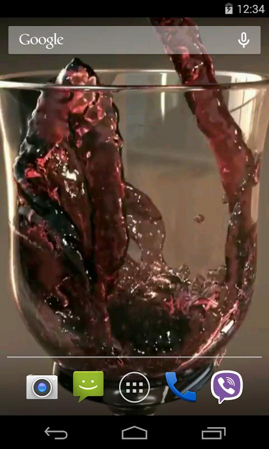 Glass of Wine Video LWP- screenshot