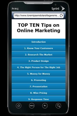 TOP TEN Online Marketing Tips