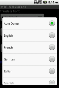 Web Translator Lite- screenshot thumbnail