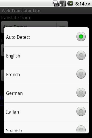 Web Translator Lite - screenshot