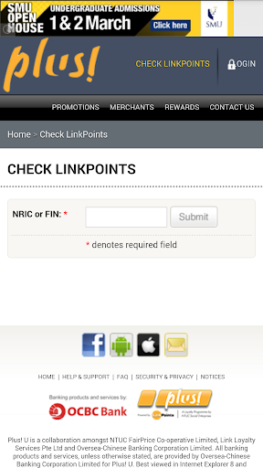 NTUC Link Points Checker