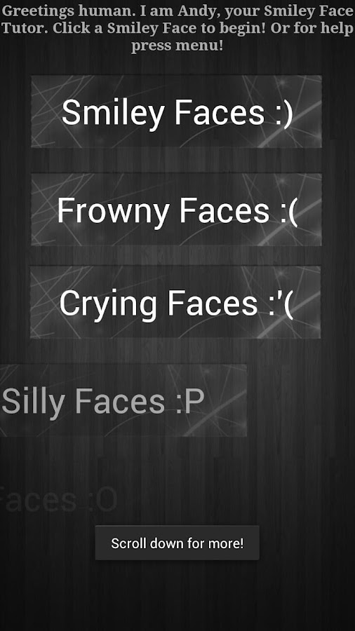 The Emoticon App =) - screenshot