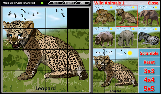 Magic Slide Puzzle W.Animals 1 Screenshot 3