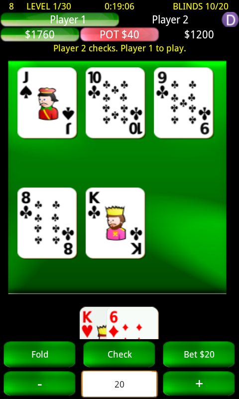 Headsup Holdem Poker- screenshot