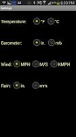 Screenshot of CWOP Weather