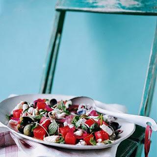 Calamari, Chile, and Watermelon Salad