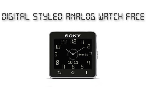 Digital Style Analog Clock SW2