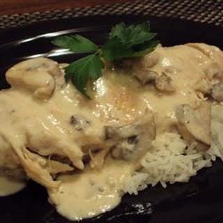 Mushroom Chicken in Sour Cream Sauce.
